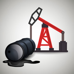oil rig tower and can. petroleum industry. vector illustration