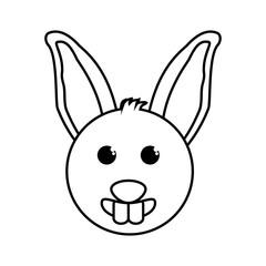 rabbit animal farm isolated icon vector illustration design