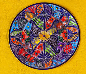 Colorful Ceramic Mexican Plate Guanajuato Mexico