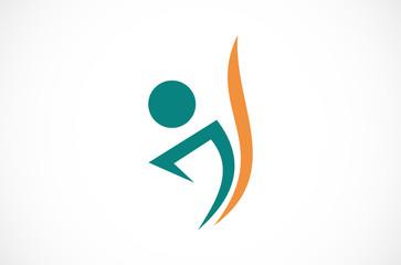 people letter J logo
