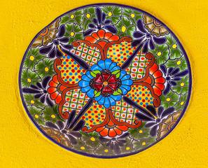 Colorful Ceramic Mexican Plate Guanajuato Mexico
