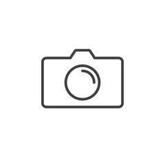 Photo Camera line icon, outline vector logo illustration, linear pictogram isolated on white