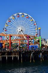 Santa Monica, California, USA - july 15 2016 : picturesque pier