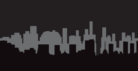 Set of  cities silhouette