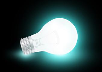 Realistic glass bulb.