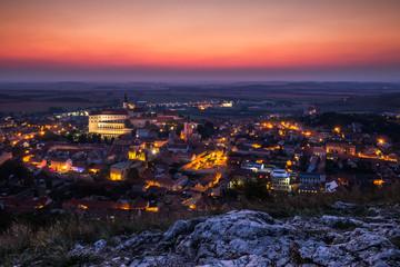 Sunset over Mikulov city