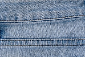 Close Up Blue Denim Jean Texture with Seams