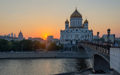 The Cathedral Of Christ The Savior. Moscow, Russia
