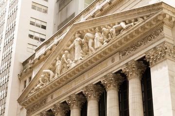 New York Stock Exchange on Wall Street, Lower Manhattan, USA