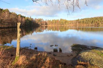 Swedish lake in autumn