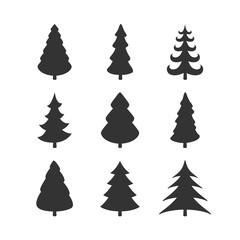 Vector Illustration of Abstract Christmas Trees