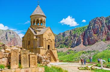 The religious art in Noravank Monastery