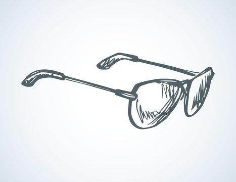 Sunglasses. Vector drawing