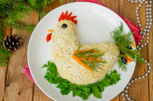 Салат в форме цыпленка фото