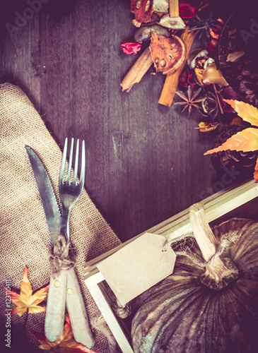 Thanksgiving Background Harvest Vintage And Country Style