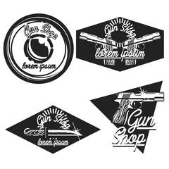 Vintage guns shop emblems