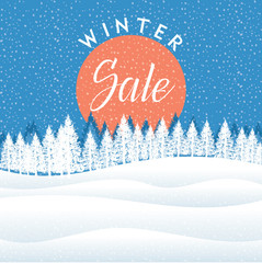 Winter creative business promotional vector.