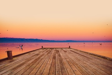 Scenic Sea Deck at Sunset