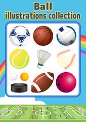 ボールのイラストコレクション