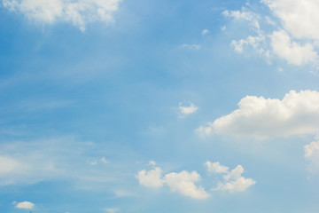 Sky with white clouds background