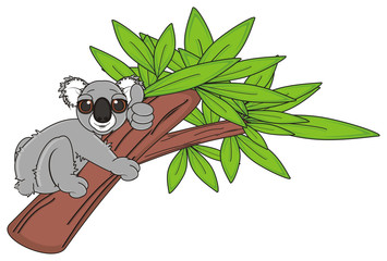 tree, eucalyptus, gesture, class, cartoon, gray, animal, bear, koala, australia, zoo, nature, wild, marsupial, toy, climb