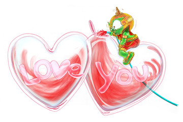 Siam Gumphant Thai Giant Cartoon Love fills the heart