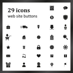 Set of 29 icons for website buttons
