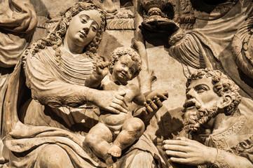 Escultura de la Catedral de Ávila, Adoración de los Reyes, España