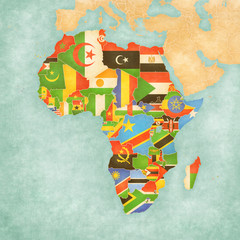 Map of Africa - Flags of All Countries