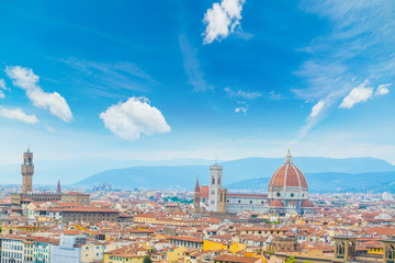 clouds over Florence cityscape