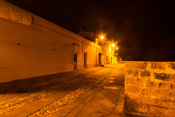 Alghero seafront by night
