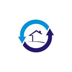 circle arrow house logo
