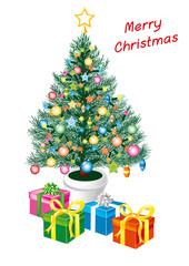 albero buon natale auguri
