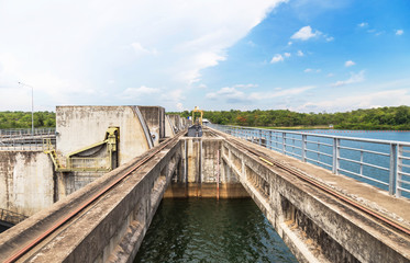 pakmun hydroelectric dam in ubonratchathani thailand