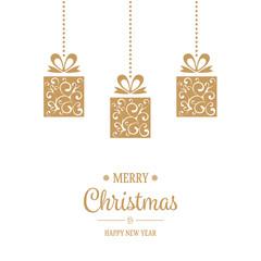Hanging Golden Christmas Decoration