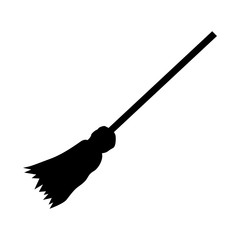 Witch broom icon. Simple illustration of broom vector icon for web