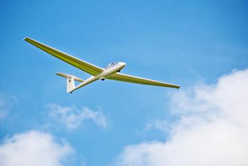 Segelflugzeug an der Wasserkuppe in Hessen
