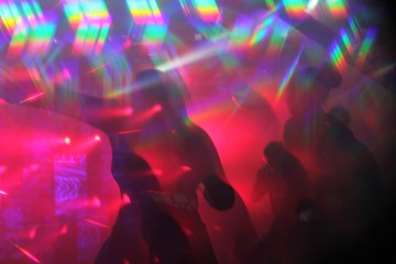 disco lights synthwave hologram club abstract lights nightclub dance party background nightlife