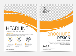Brochure template flyer design vector background Wall mural