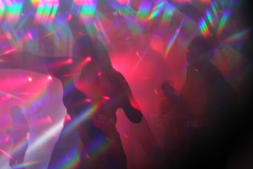 disco lights synthwave hologram laser light abstract lights nightclub dance party background  stock, photo, photograph, image, picture,
