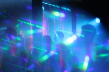 disco lights synth wave abstract lights nightclub dance party background  hologram psychedelic stock, photo, photograph, picture, image,