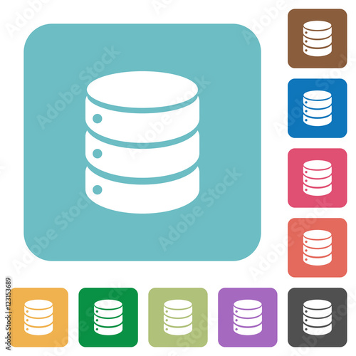 """""""Flat database icons"""" Stock image and royalty-free vector ..."""