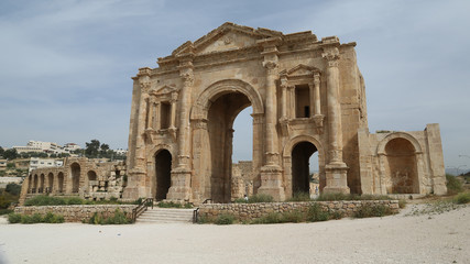 Arch of Hadrian of Jerash in Jordan