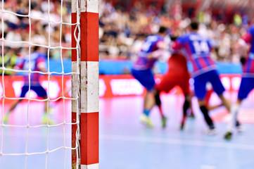 Handball match action scene
