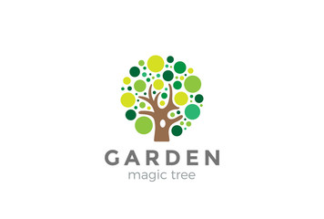 Tree Logo design vector. Creative ideas Garden Logotype icon