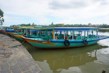 Tourist boats in Vietnam