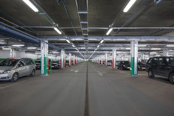 Subterranean parking lot
