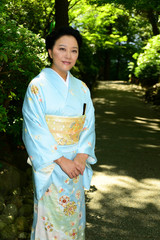 Japanese Woman Wearing Kimono