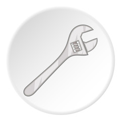 Adjustable wrench icon. Cartoon illustration of adjustable wrench vector icon for web