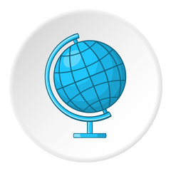 Globe icon. Cartoon illustration of globe vector icon for web